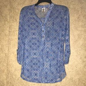 PerSeption Women Concept Blouse Sz Small Blue